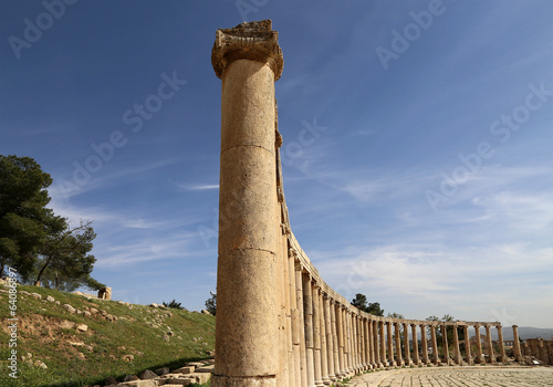Forum (Oval Plaza)  in Gerasa (Jerash), Jordan