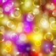 Festive background with bubbles, bokeh