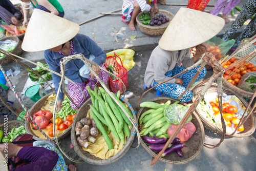 Vegetables for sale on the market in Hoi An, Vietnam