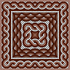 classic square Greek mosaic