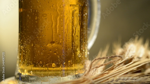 Beer And Barley, Flowing Down Drops Of Water