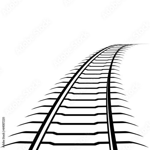 Abstract railway line