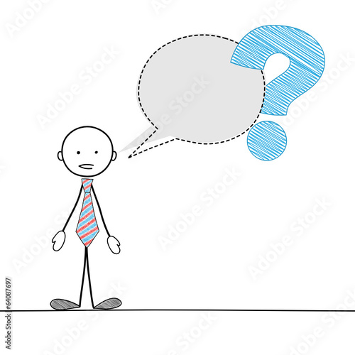 STICKMAN ASKING A QUESTION (speech bubble balloon service)