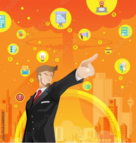Business war competition concept vector