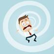 business mann fallen problem risiko