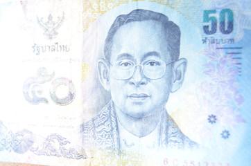 Thai Banknote with King Rama IX