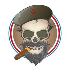 revolution vintage totenkopf schädel zigarre