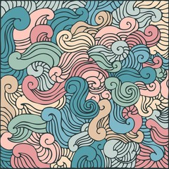 ornamental background, vector illustration, hand drawn