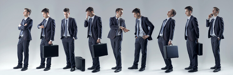 Businessman set of poses