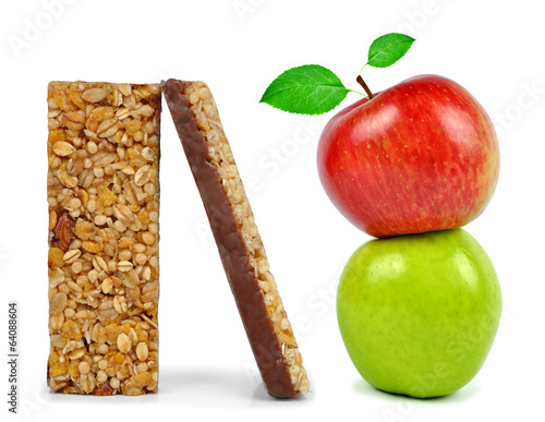 Chocolate Muesli Bars with apples