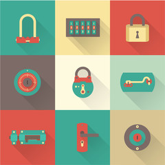 Locks icons