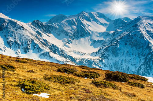 Spring landscape in the Fagaras mountains,Carpathians,Romania