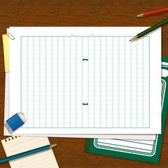 作文用紙、文具