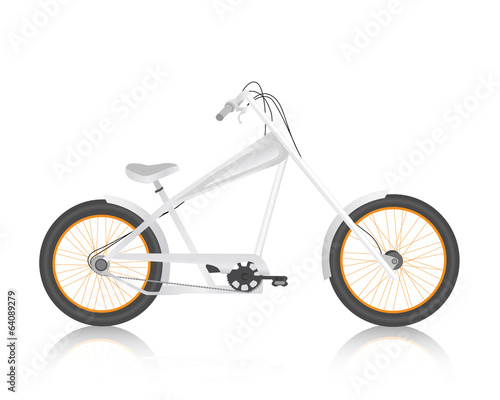 Modern realistic bicycle white vector