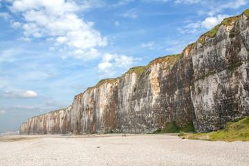 Les falaises à Saint Valéry en Caux en Normandie - France