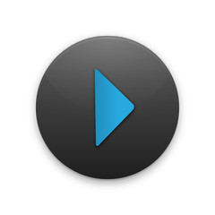 Black Button with the play icon for your project