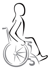 Disabled in a wheelchair