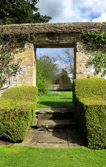 Archway into an English Landscape Garden
