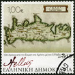 GREECE - 2013: shows Map Cluverius P. 1676 A.D.