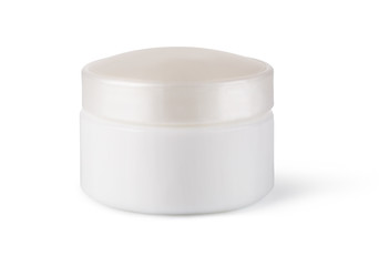 jar or blank packaging for cosmetic product isolated on a white