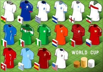 Isometric Uniforms Set of Soccer World Cup