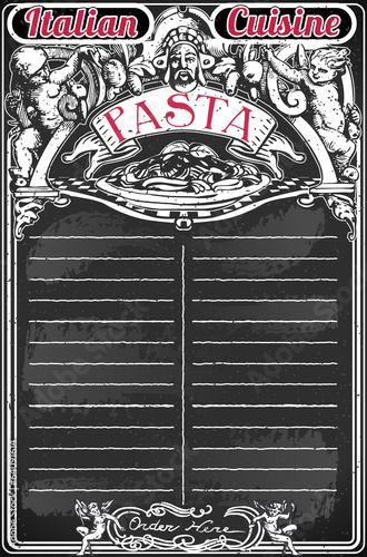 Vintage Blackboard for Italian Pasta Menu