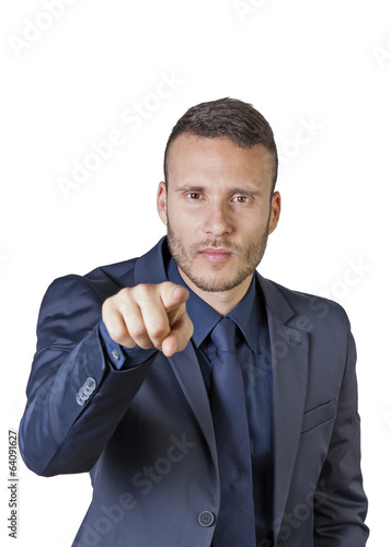 buisnessman pointing finger at you