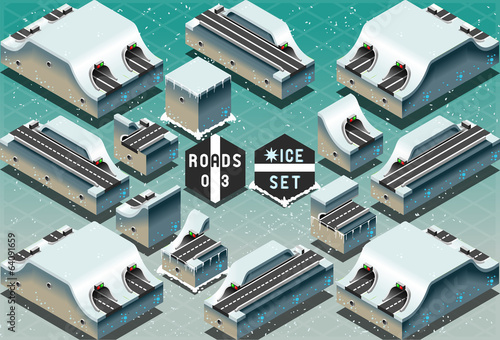 Isometric Galleries Tunnels on Frozen Terrain