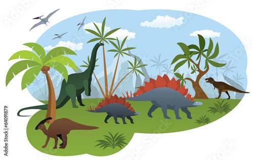 World of dinosaurs - 64091879