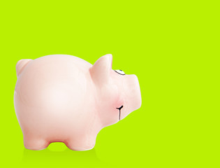 piggy bank green
