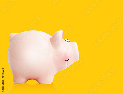 piggy bank yellow