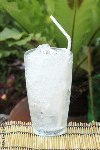 glass of refreshing ice cube