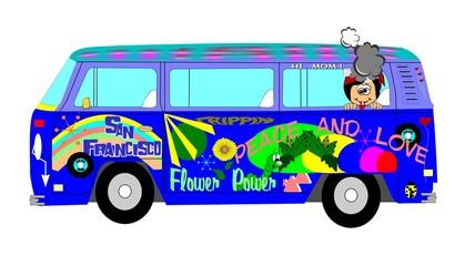 sixties hippie bus