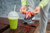 Detox smoothie before running workout poster