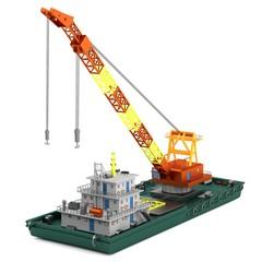 realistic 3d render of floating crane