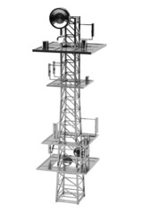 realistic 3d render of gsm tower