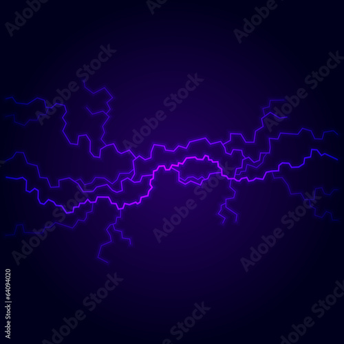 Blue Electric Lighting Effect, Abstract Backgrounds. Vector
