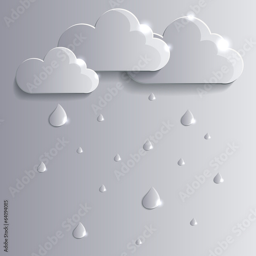 Vector clouds and raindrops