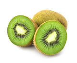 Fototapety kiwi fruit on white background