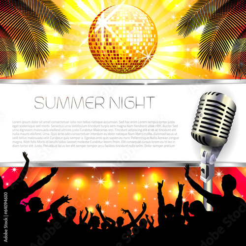 Music Summer Background - Vector