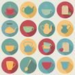 Tea icons.