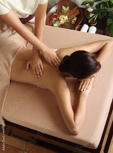 canvas print picture Massage SPA