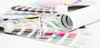 Leinwanddruck Bild - Lens. Prepress concept