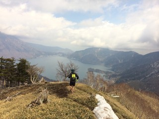 Man Trailrunning on Mountain Path