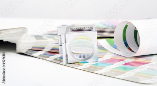 Leinwanddruck Bild Lens. Prepress concept