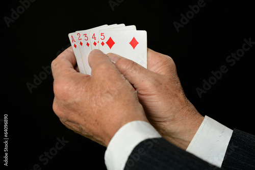 Hands with playing