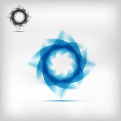 beautiful modern blue energetic vector icon logo design