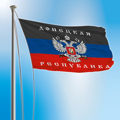 donetsk flag with eagle