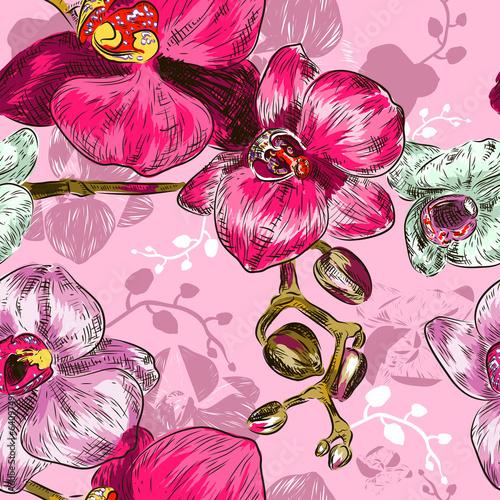 nahtlose-orchidee-muster