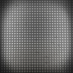 Metal background with seamless pins (3d render)